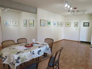 絵画展の展示